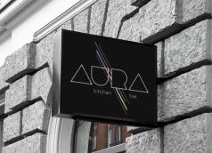 Aura Restaurant Sign Mock-Up