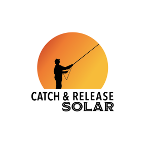 Catch and Release Logo, White Background