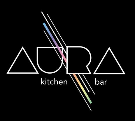Aura Logo, Black Background