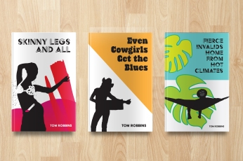In Honor of Tom Robbins, Book Cover Designs